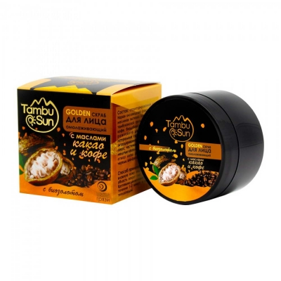 Тамбуканский «GOLDEN скраб» с маслом какао и кофе 70 мл.