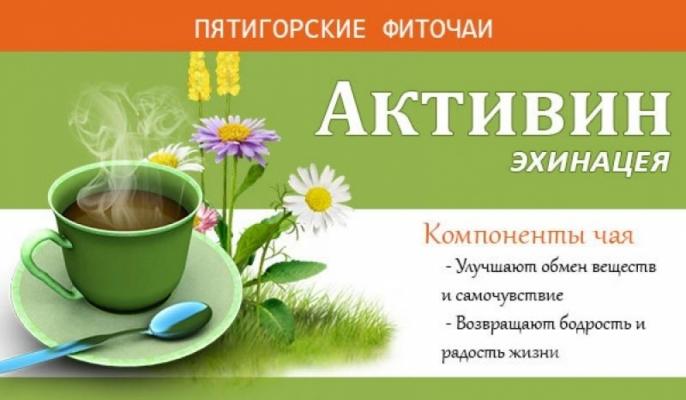 Фиточай травяной «Активин-эхинацея» 30 гр. ф/п (20*1,5гр)