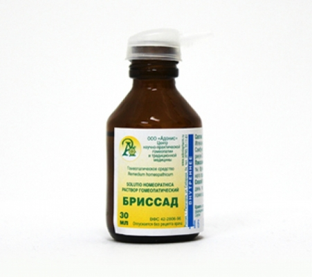 Раствор гомеопатический «Бриссад» 50гр.