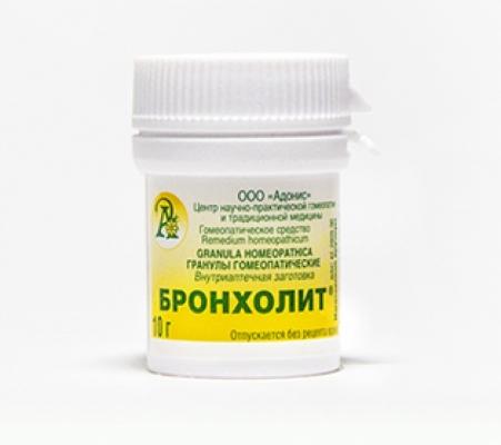 Гранулы гомеопатические «Бронхолит»10гр.