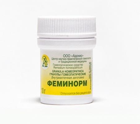 Гранулы гомеопатические «Феминорм»10гр.