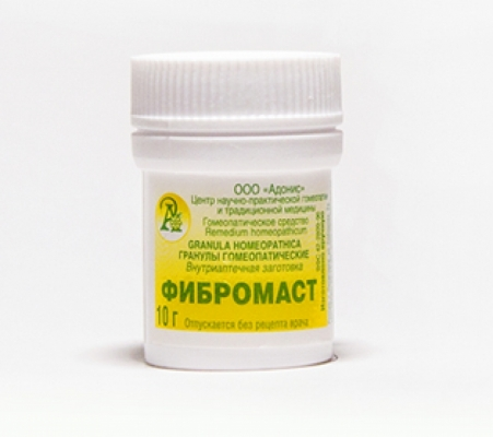Гранулы гомеопатические «Фибромаст» 10гр.