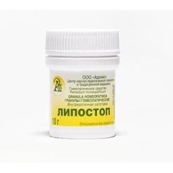 Гранулы гомеопатические «Липостоп»10гр.