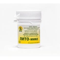 Гранулы гомеопатические «Лито-микс»10гр.