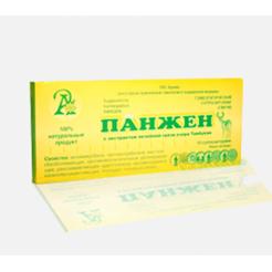 ПАНЖЕН (PANGEN), суппозитории (свечи) с экстрактом лечебной грязи озера Тамбукан№10 (Адонис)